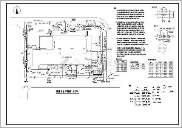 杭州某地区办公楼的给排水设计cad图纸-图2