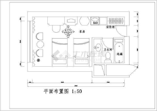 某一居室家装装修设计图(共10张)