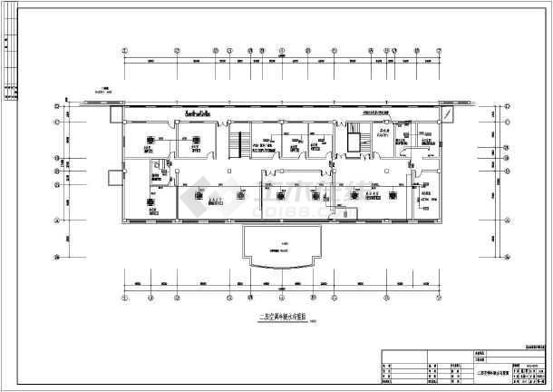 江苏某地区办公楼给排水设计cad图纸-图1