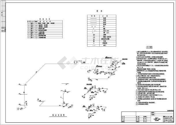 江苏某地区办公楼给排水设计cad图纸-图3