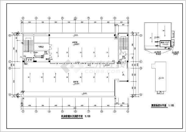 浙江某9层办公楼给排水详细设计cad图纸-图3