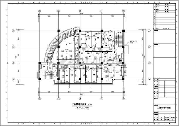 北方某城市6层大型综合楼整套cad给排水平面图纸-图1