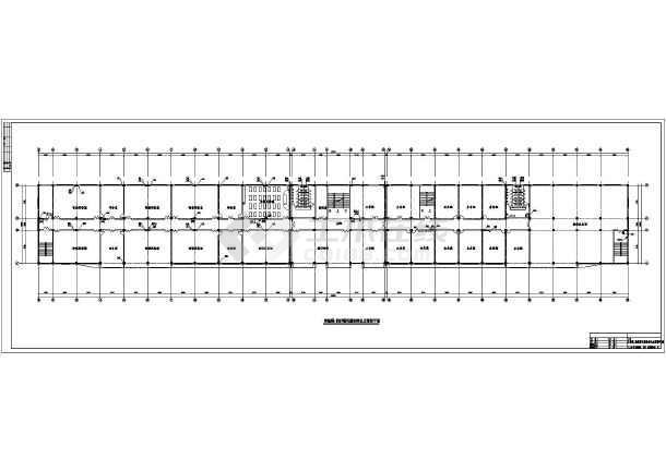 湖南某中学实验大楼给排水cad施工图-图1