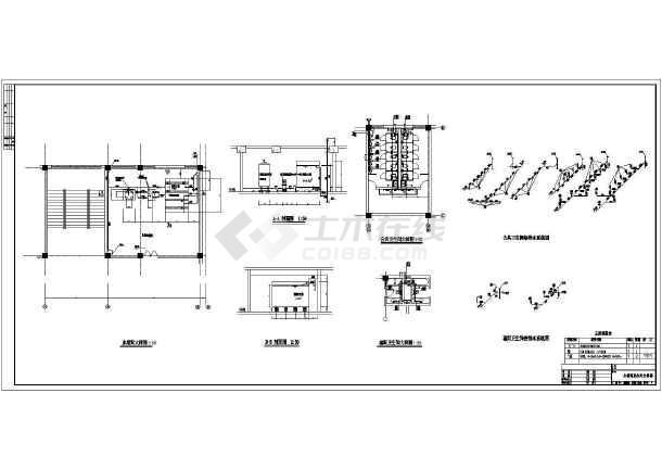 湖南某中学实验大楼给排水cad施工图-图2