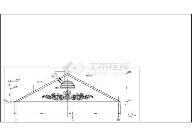 框架坡屋顶三层自建房屋建筑设计图-图七