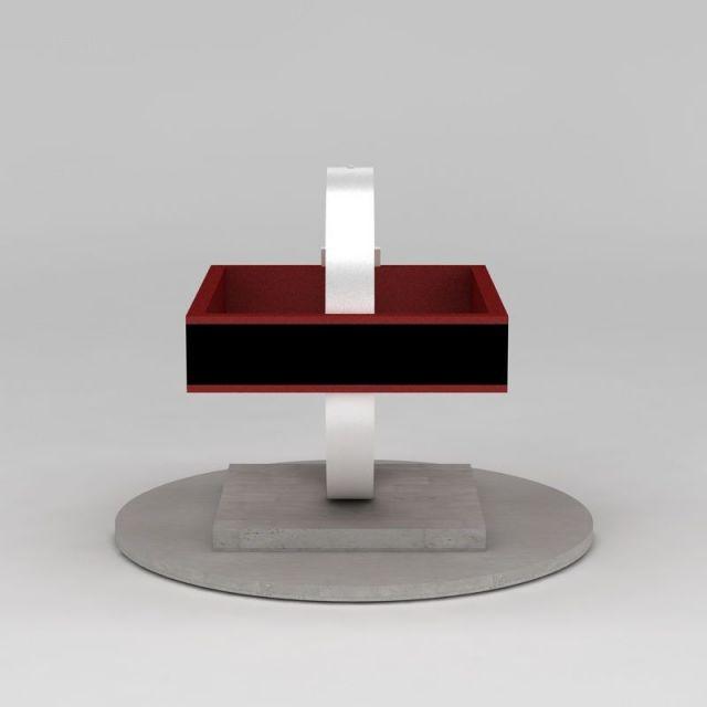 规矩方圆雕塑3d模型下载