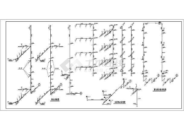 某地区多层办公楼给排水施工CAD图-图2