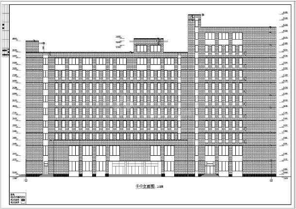 某欧式高层办公楼cad施工设计图