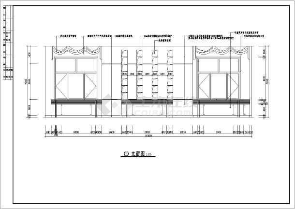 某地中式餐厅装修设计施工图纸(共6张)