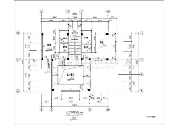 四层平屋顶独栋农村房屋建筑设计图-图七