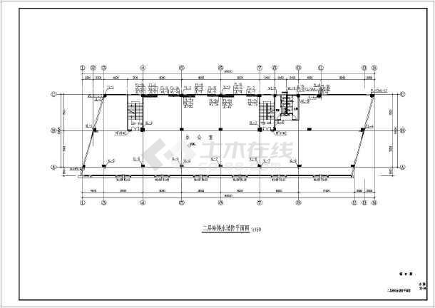 某地区制衣厂综合楼给排水CAD施工图-图1