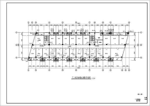 某地区制衣厂综合楼给排水CAD施工图-图2