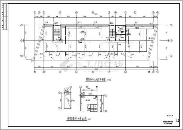 某地区制衣厂综合楼给排水CAD施工图-图3