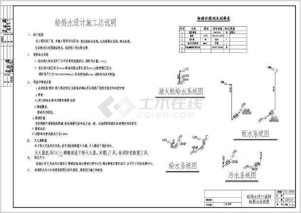 安徽某饲料厂仓库给排水及消防施工图-图2