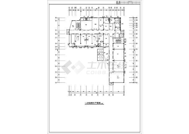 安徽某妇幼保健院综合楼给排水施工图-图1