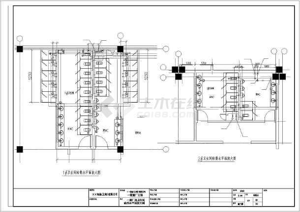 上海市某食品厂消防给排水CAD施工图-图3