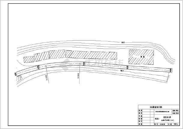 某地区水利工程道路设计CAD施工图-图1