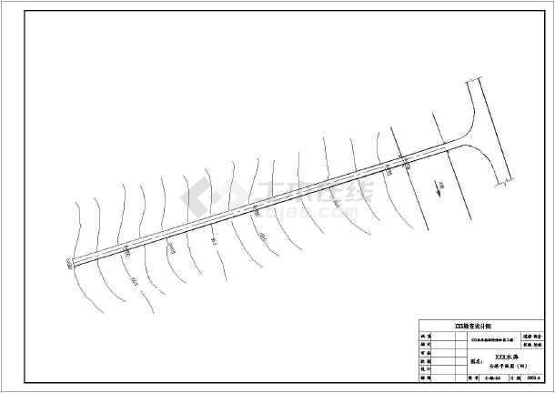 某地区水利工程道路设计CAD施工图-图3