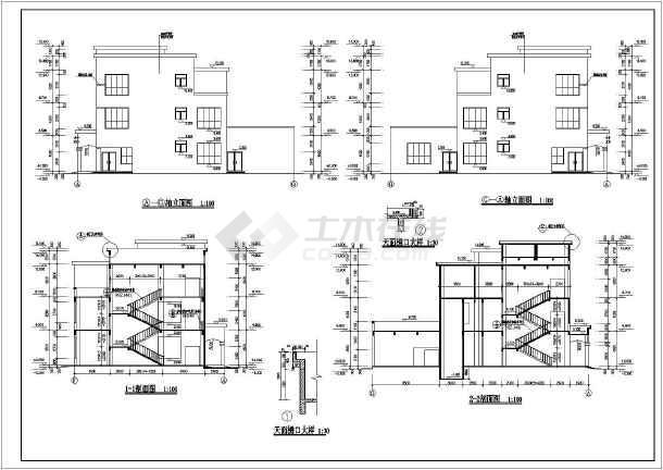 四川省西部某城市员工餐厅建筑设计图