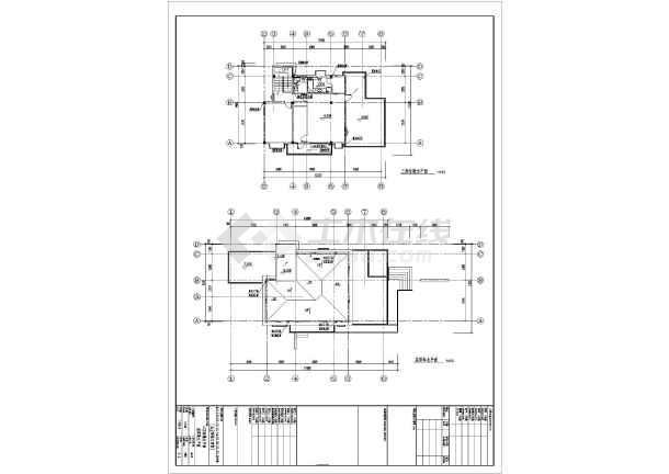 某地区独立别墅给排水施工CAD图-图1