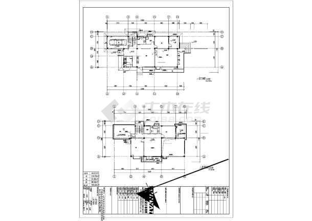 某地区独立别墅给排水施工CAD图-图2