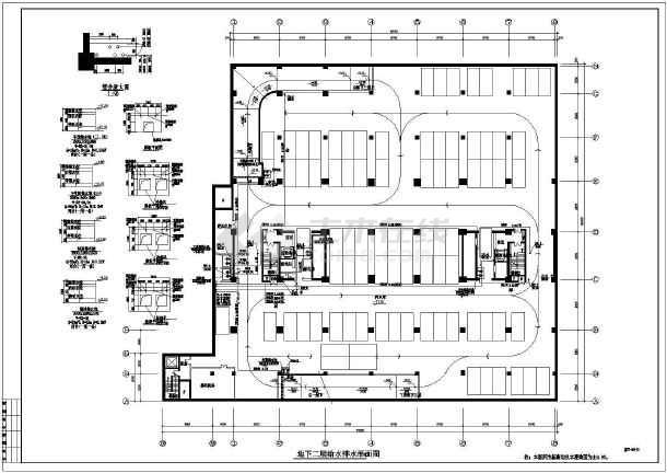 某地区办公楼给排水施工图(全套)-图1