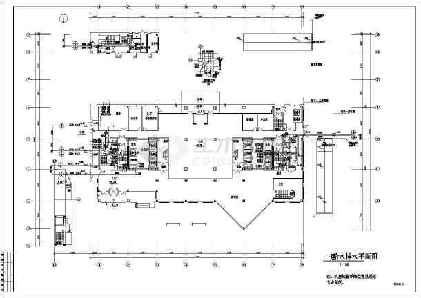 某地区办公楼给排水施工图(全套)-图3