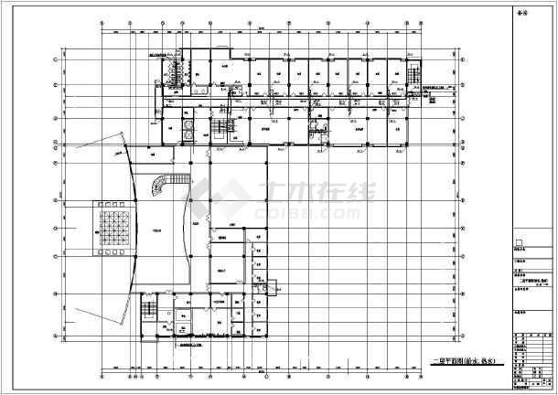某会议中心给排水CAD设计施工图-图1