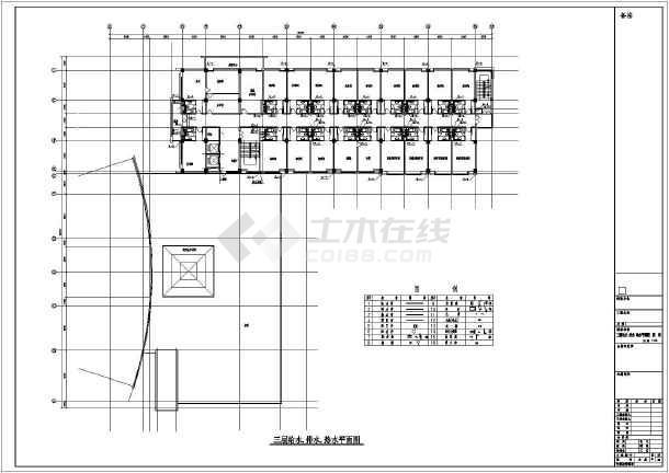 某会议中心给排水CAD设计施工图-图3