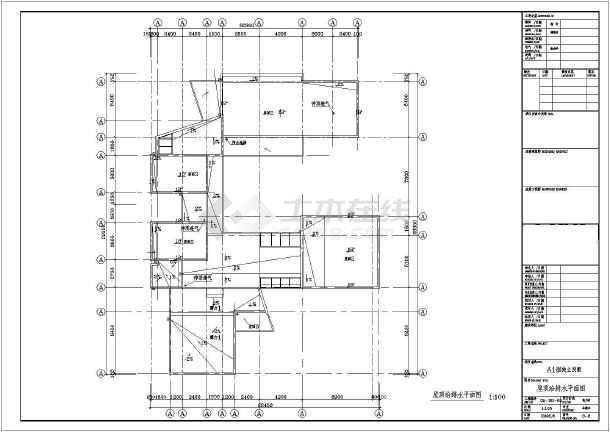 某地区别墅给排水设计CAD施工详图-图2