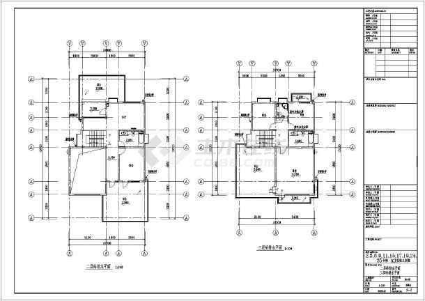 某地区独立别墅给排水设计CAD施工图-图1