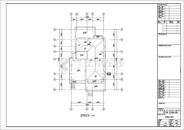 某地区独立别墅给排水设计CAD施工图-图2