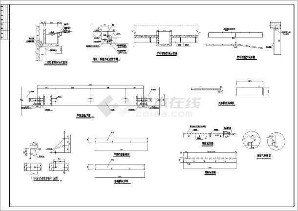 某地区给排水设计二沉池CAD施工图-图1