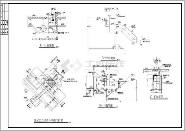 某地区给排水设计二沉池CAD施工图-图2