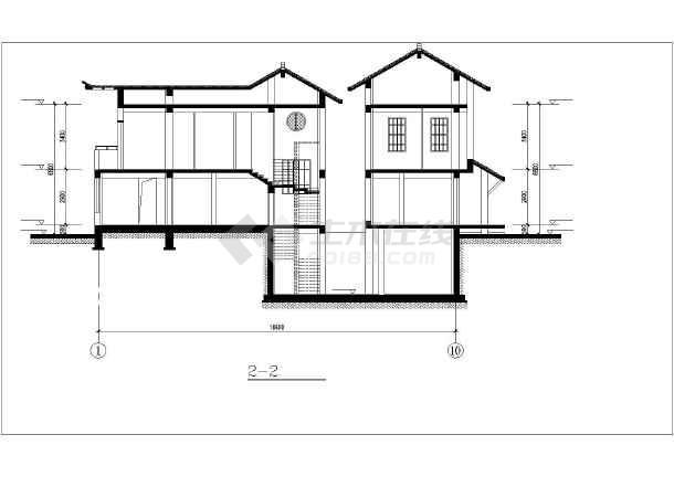 日式风格二层别致自建房屋建筑设计图 (全套)