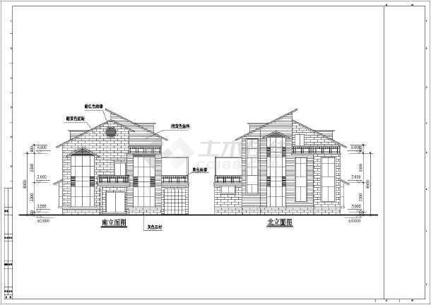 某地区居民建筑住宅别墅设计施工图