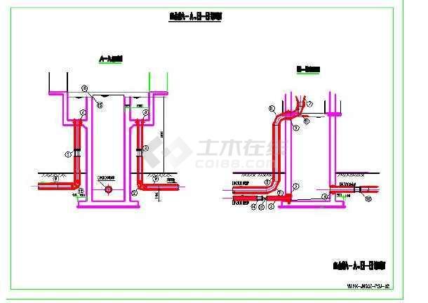 水厂配水井水利v水厂cad图银丝镶嵌设计图图片
