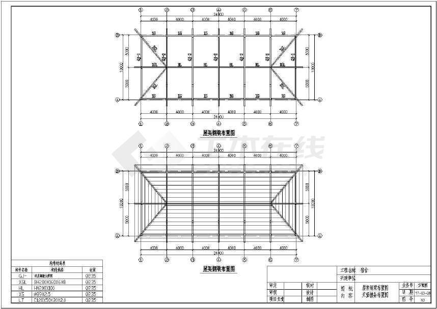 广东某地10m*24m双层宿舍方案,四坡导水,树脂瓦屋面,砌砖墙.图片