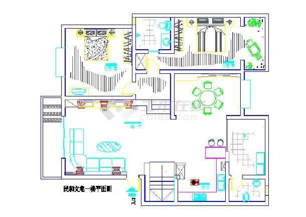 别墅楼中楼室内设计平面图图