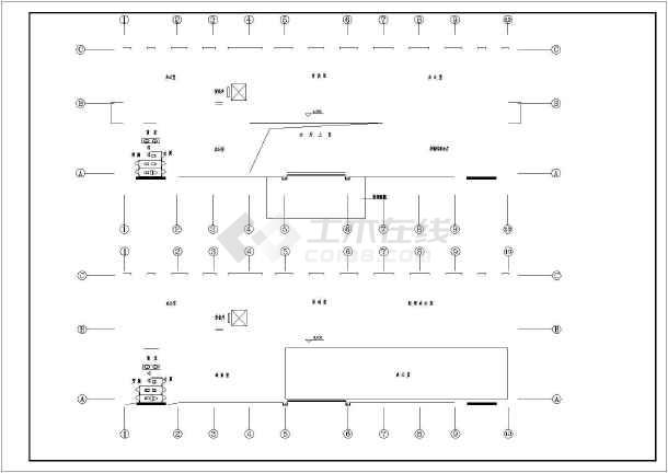 五层办公楼给排水设计施工图(标准详细)-图1