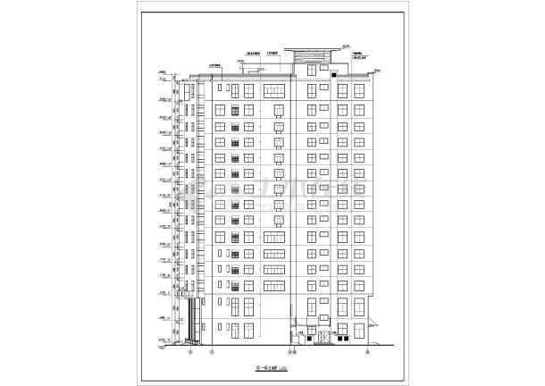上海某地区大型旅馆建筑设计CAD施工图-图1