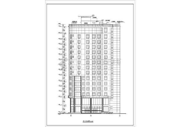 上海某地区大型旅馆建筑设计CAD施工图-图2