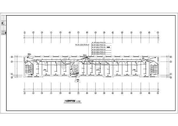 湖南某地区办公楼建筑设计CAD施工图-图1