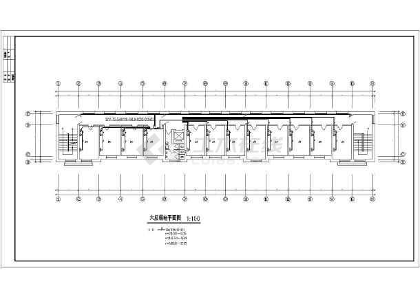 湖南某地区办公楼建筑设计CAD施工图-图2