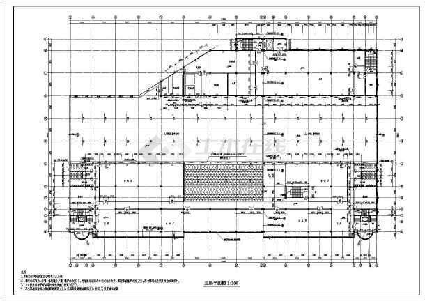 江苏某地区大型超市建筑设计CAD全套施工图-图1