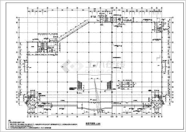 江苏某地区大型超市建筑设计CAD全套施工图-图2