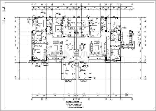 河北某地区单体洋房建筑设计CAD施工图-图2