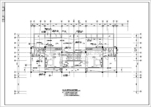 河北某地区单体洋房建筑设计CAD施工图-图3