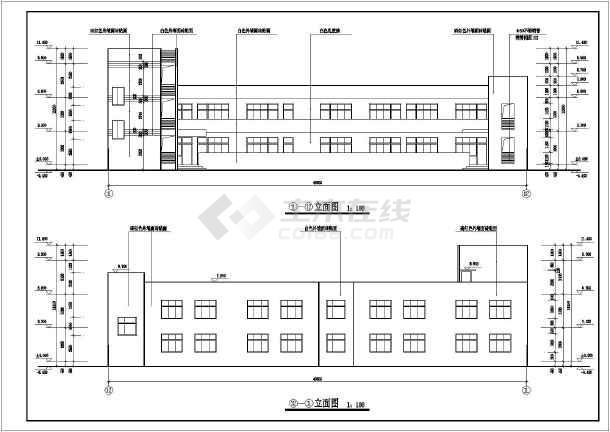 某二层希望小学建筑cad设计方案图纸