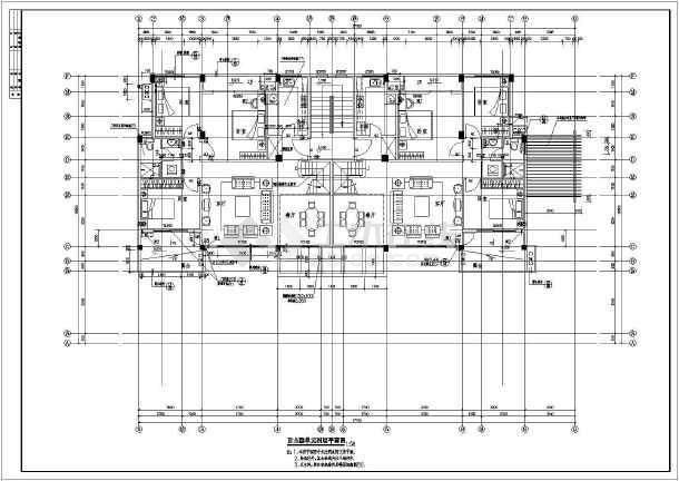 江苏某地区单体建筑设计CAD施工图-图1